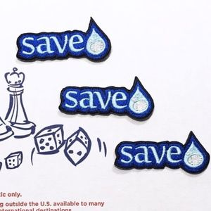 NEW SAVE WATER PATCHES IRON ON CONSERVE BADGES